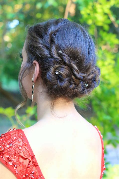 twist updo homecoming hairstyles cute girls