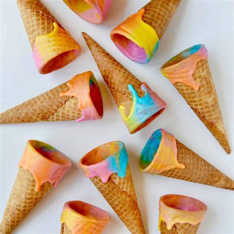 cara membuat cone ice cream unik membuat ice cream cone unicorn ice cream cones just a taste