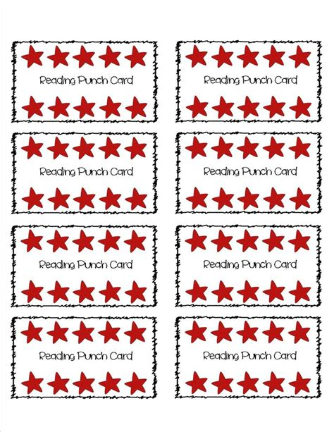 reward punch card template pin by lewis on keeping it