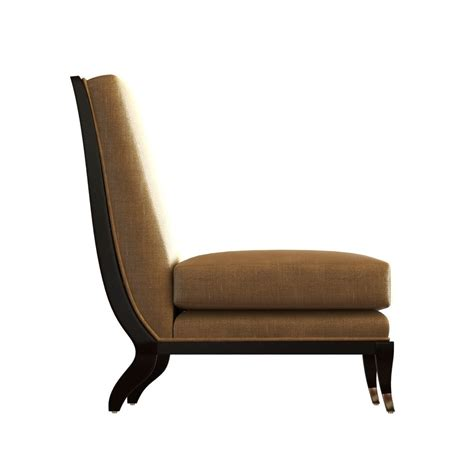 The Armless Chaise Apollon Chair 3d Model Max Obj 3ds Fbx
