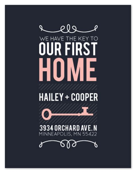 our first home picmia moving announcements the key to our first home at minted com