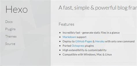 simple node js blog hexo a fast simple powerful blog framework for node