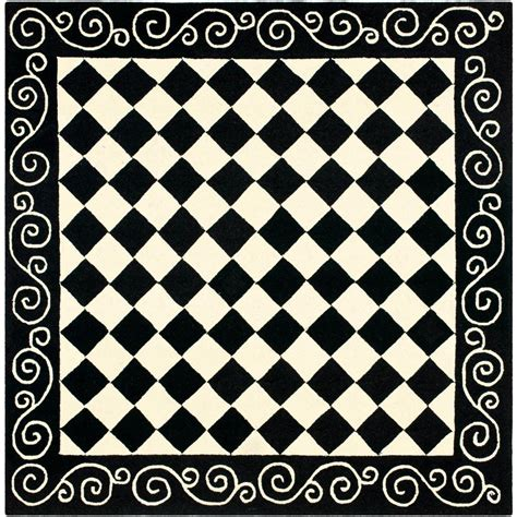 bettdecke 155x200 safavieh black and ivory rug picture 41 of 50 light