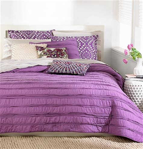 ruffle coverlet purple bedding decor by color
