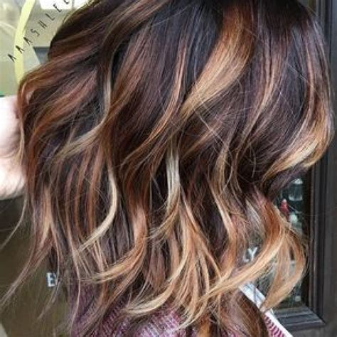 trendy to elegant black hair with caramel highlights hair color trends 2017 2018 highlights dark brown with