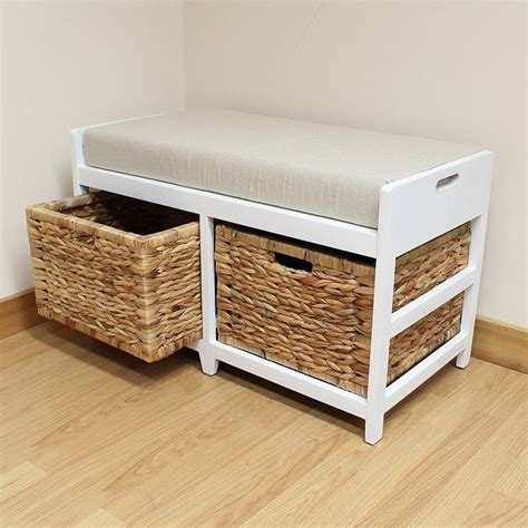 cushioned bench seating solid wood hallway storage benches storage ideas