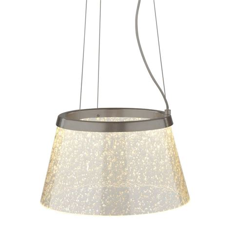 bazz silver led pendant p14237sv the home depot