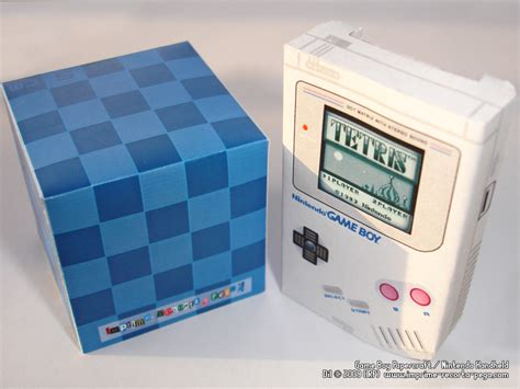 Gameboy Papercraft - gameboy papercraft quot front quot by dil1880 on deviantart