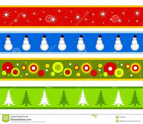 Christmas Borders Or Banners Stock Illustration ... Free Holiday Banner Clip Art