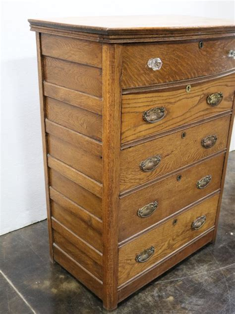 8 drawer oak dresser with mirror antique oak 5 drawer dresser w beveled wall mirror
