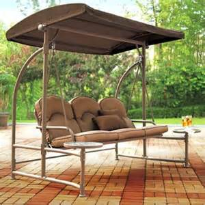 patio swing set with canopy outdoor decorating and gardening choosing the suitable