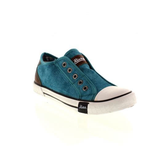 shoes on rieker m2270 12 blue combination slip on shoes