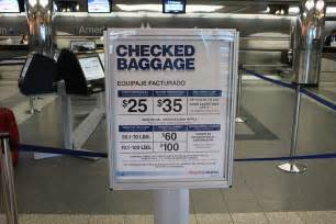 american airlines checked baggage a flight within the us new york miami with american airlines