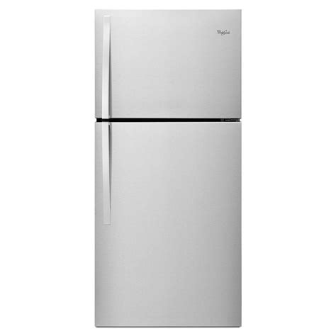 Discount Kitchen Faucets Whirlpool 30 In W 19 2 Cu Ft Top Freezer Refrigerator