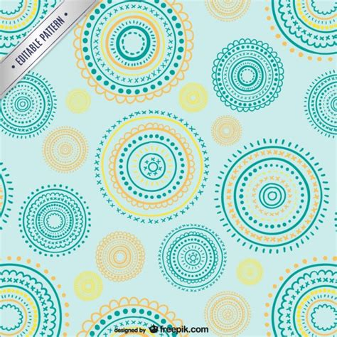 circular pattern ai editable pattern with circular shapes vector free download