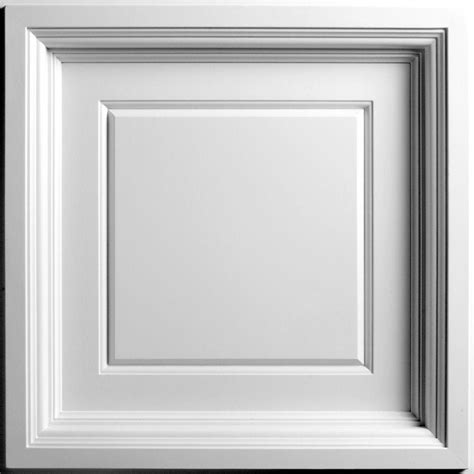 White Ceiling Panels by Ceilume White 2 Ft X 2 Ft Lay In Coffered