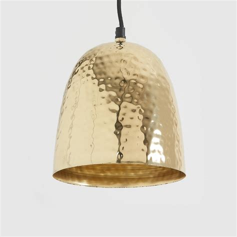 Brass Pendant Light Hammered Brass Pendant Light By Horsfall Wright Notonthehighstreet