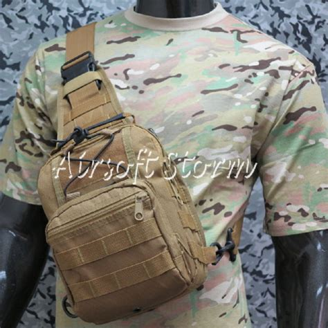airsoft tactical gear utility shoulder sling bag size s coyote brown ebay