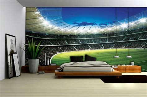 football bedroom football stadium wallpaper mural 323ve football bedrooms