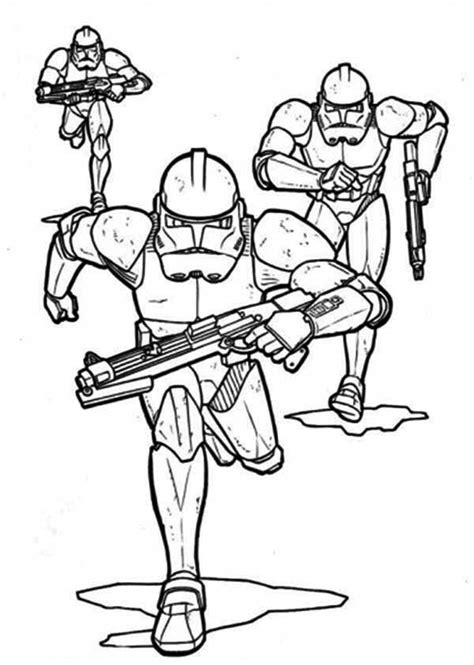 coloring pages wars clone trooper the clone troopers pursuing in wars coloring page