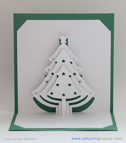 christmas tree popup card 3d cards template and cards
