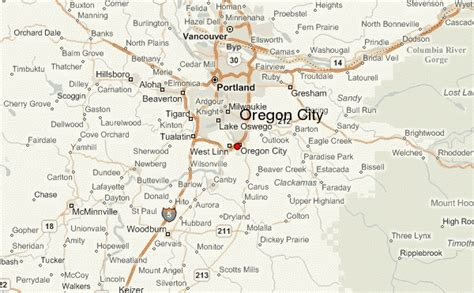 map of oregon city area oregon city location guide