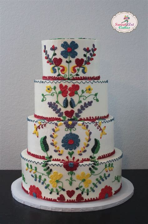 mexican themed cake decorations mexican embroidery weddingcake sweet cakes