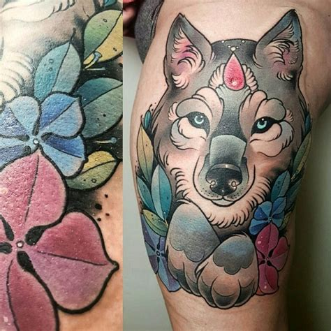 neo traditional wolf tattoo 17 best ideas about wolf traditional on