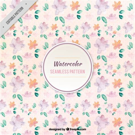 natural pattern ai natural pattern painted with watercolors vector free