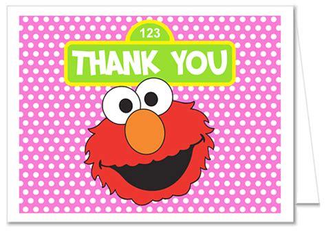 Elmo Thank You Cards