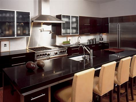 kitchen cabinets and countertops designs dark granite countertops hgtv
