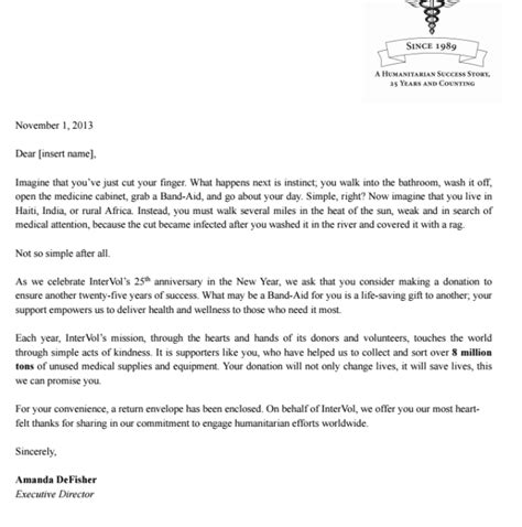 Thank You Letter For Equipment Donation Proofread Current Nonprofit Fundraising Appeal Letter By