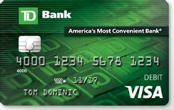debit cards benefits of personal visa debit card td bank - Td Bank Gift Card Login