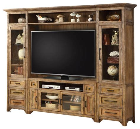 wood tv stand wall unit designs newhairstylesformen2014 com farmhouse entertainment centers and tv stands cherry wood