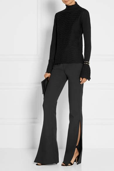 Bell Sleeve Wool Blend Knit Top bell sleeve sweaters on trend for fall in every style color