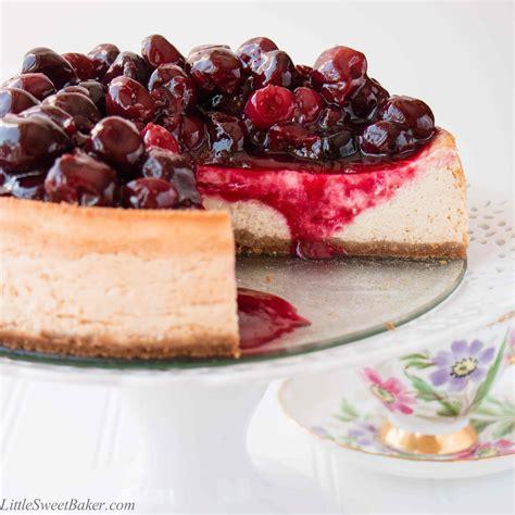 cheese cake cherry ultimate cherry cheesecake sweet baker