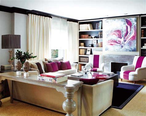cream  fuschia living room velvet palette