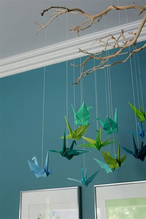 How To Make Origami Hanging Decorations - 20 origami decor ideas for a room kidsomania