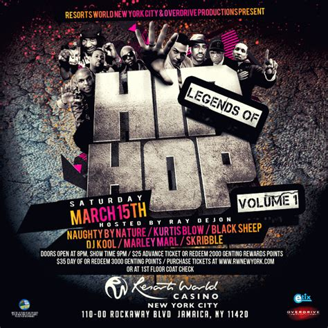 Ny Hip Hoppers Rally For Injured Dj Big Wiz by Resorts World Casino Welcomes Hip Hop Legends For Mega