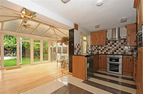 kitchen conservatory ideas beige conservatory kitchen design ideas photos