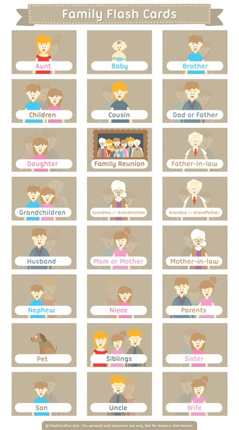 printable english flashcards free printable family flash cards download them in pdf