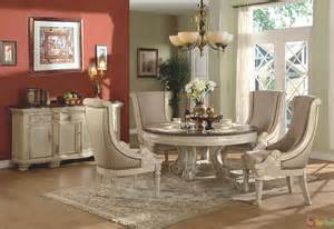 White Dining Room Sets Formal by Halyn Antique White Round Formal Dining Room Set