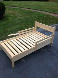 toddler bed frame ana white toddler bed diy projects