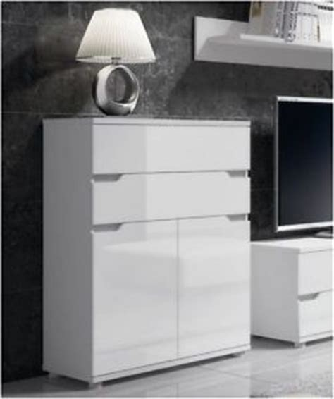 Lounge Storage Cabinets by Aspire White Gloss Sideboard Storage Cabinet Unit