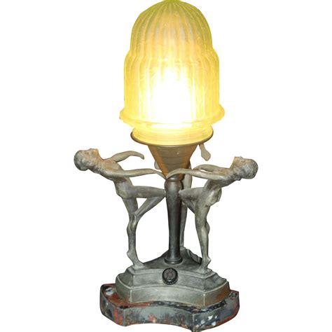 unusual  era art deco boudoir lamp