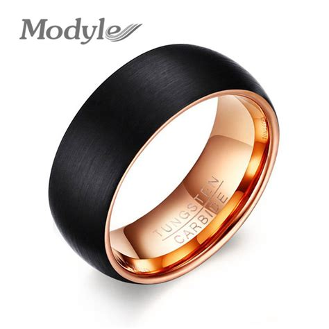 8 Awesome Ways To Ring In The New Year by Modyle Cool Tungsten Ring 8mm Gold Color Rings
