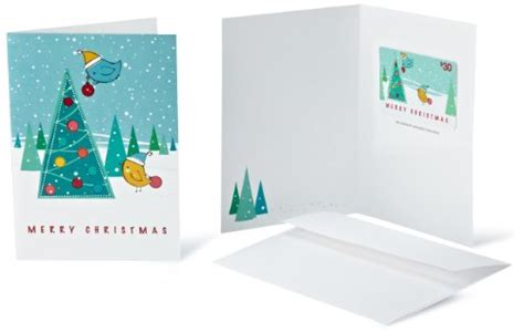 Amazon 30 Gift Card - amazon com 30 gift card in a greeting card christmas tree card design let s buy