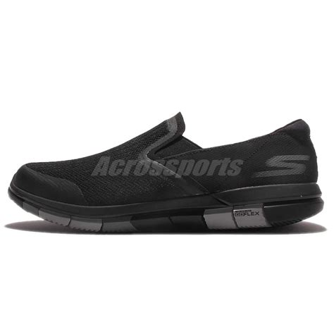 Restock Skechers Go Flex 3 skechers go flex black grey mens casual shoes slip on sneakers 54010 bkgy ebay