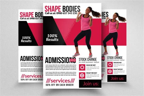 fitness flyer templates 20 fitness flyer template psd for fitness center and