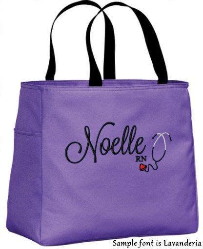 personalized monogrammed nurse tote bag handbag